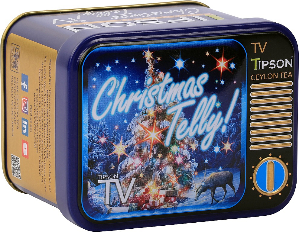 TIPSON TV Christmas Telly čaj plech 25g